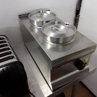 Used Lincat BS3 Stainless Steel Table Top Double 2 Dry Bain Marie (6772)