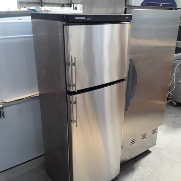 Used Liebherr Premier Stainless Steel Single Door Upright Fridge Freezer (6767)