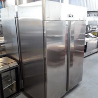 Used Valera AR14TN Stainless Steel Double Door Upright Fridge (6765)