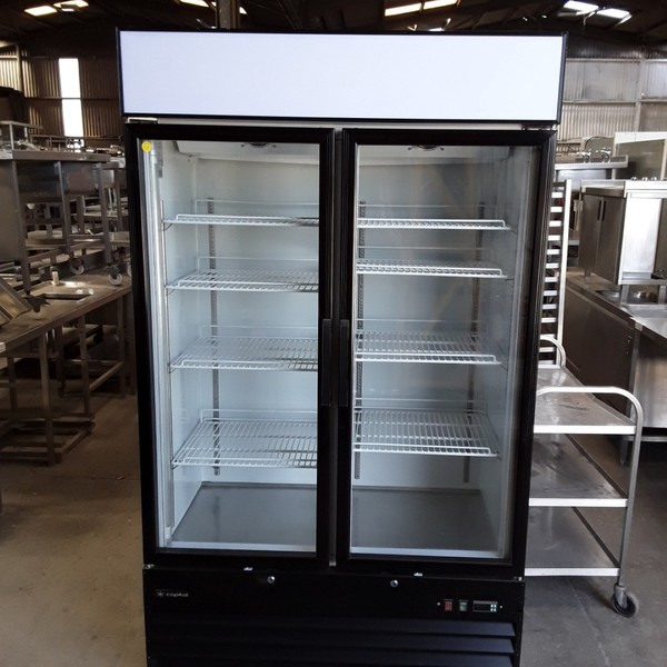 Used Capital Pavo 2D Double Glass Upright Display Drink Chiller Fridge (6764)