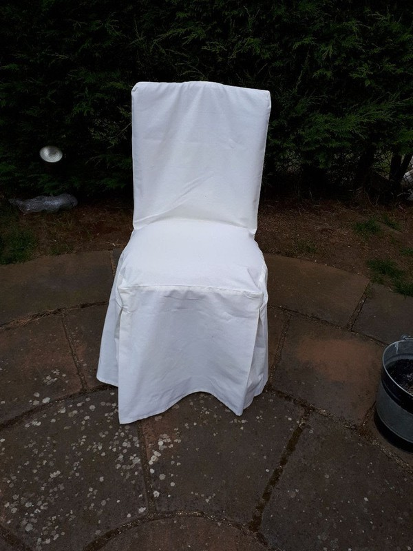 Ivory Pleated Chair Covers - Chair Protectors for Cheltenham, Napoleon or Chiavari Chairs