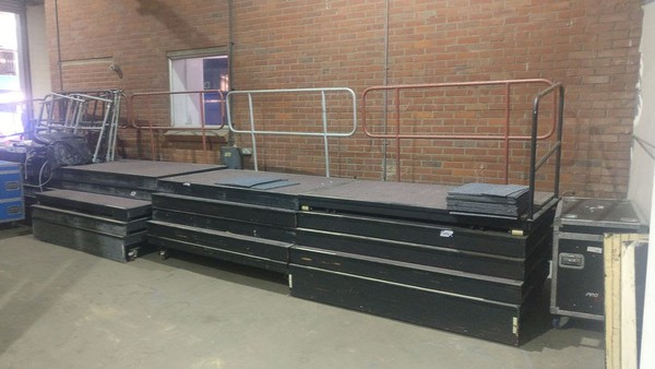 8m of Portable Tiered Seating + 72 Chairs
