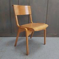 Tecta English 1960's Vintage Plywood Stacking Chairs