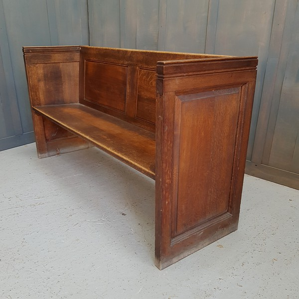 Classic Square Ended Solid Oak Church Chapel Pews