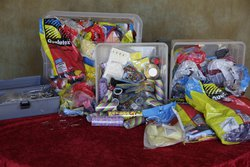 Boxes and boxes of balloon stock