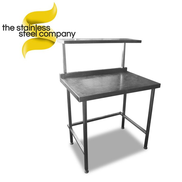 0.9m Stainless Steel Prep Table with Gantry