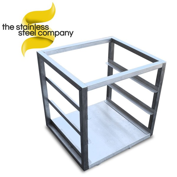 0.5m Stainless Steel Trolley (Ref: SS422) - Cheshire