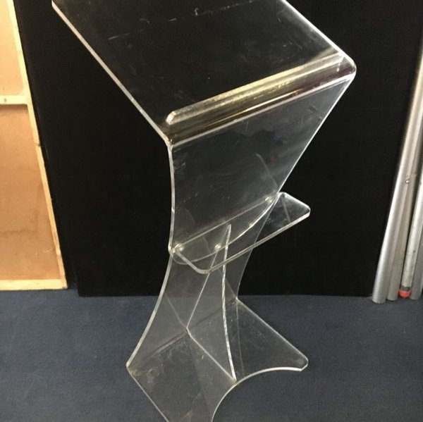 used acrylic lectern