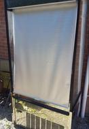 Shop display fridge with roller blind for sale