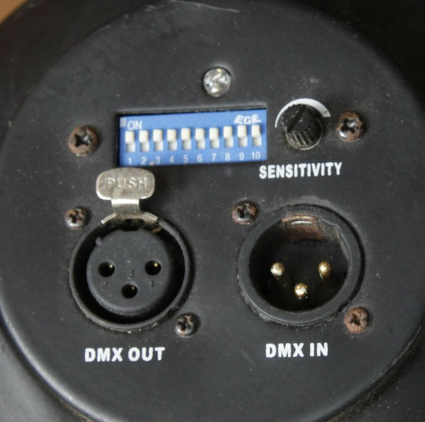 XLR DMX connectors
