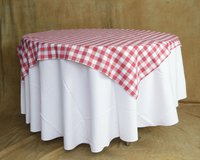 Red Gingham Check Table Cloth