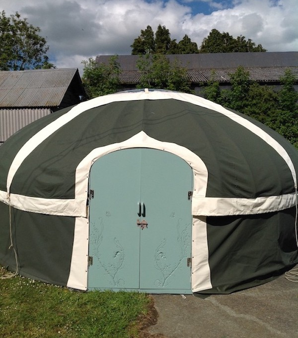 16ft Diam Yurts With Brand New Covers, Unused Frames And Extra Large Crown Wheels