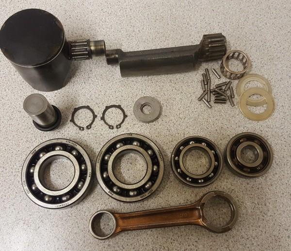 Rotax FR125cc Used Rebuild Kit Including Conrod Piston Bearings