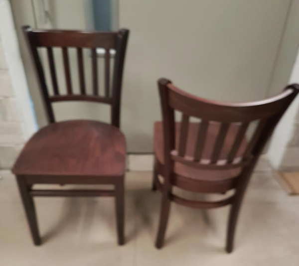 Secondhand wooden chairs