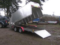 Unique 14 X 5-6 Twin Axle Alloy Box Trailer 2600Kg Braked Ramptail