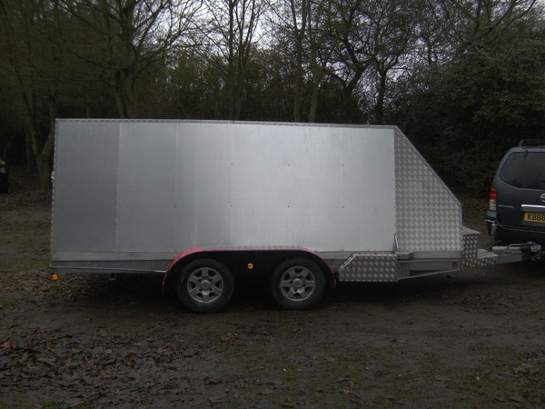 Unique 14 X 5-6 Twin Axle Alloy Box Trailer 2600Kg Braked Ramptail