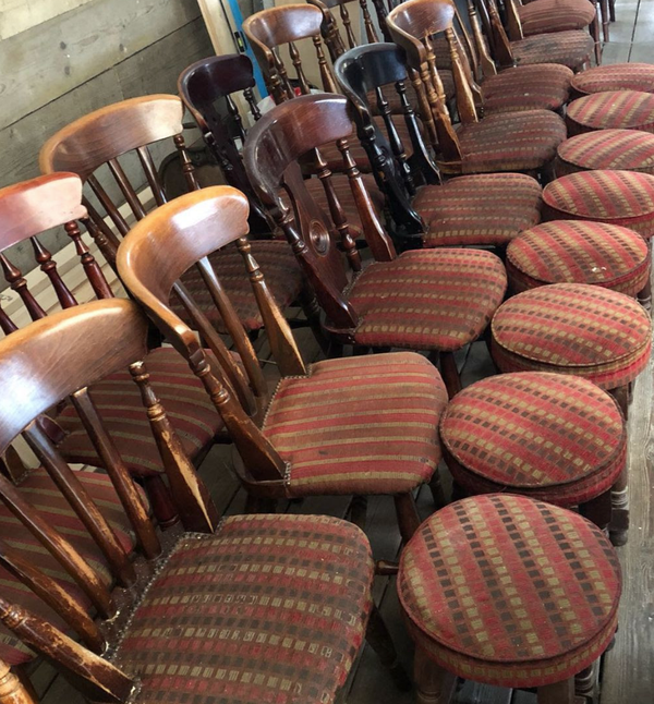Secondhand chairs and stools for sale