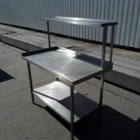 Steel table and shelf