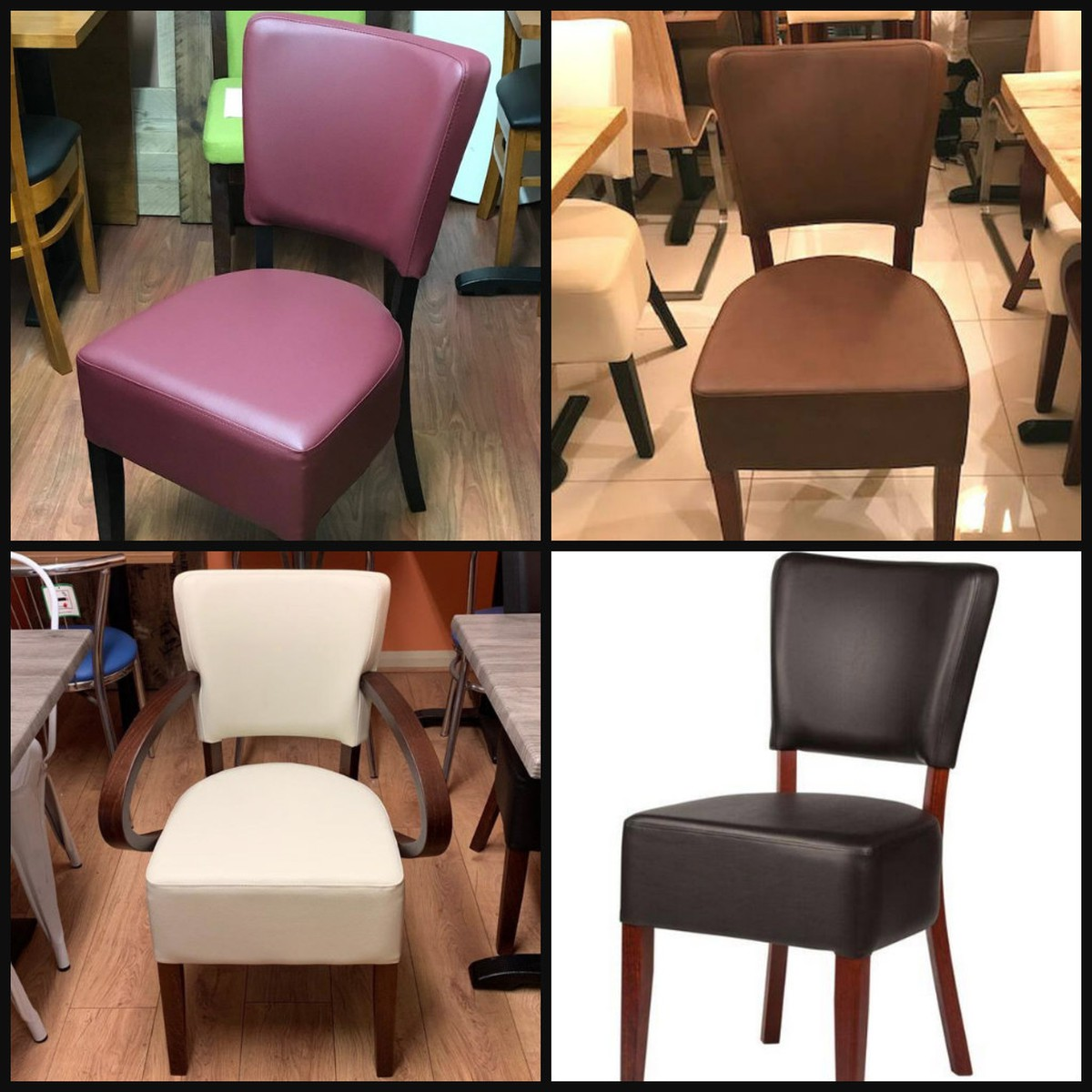 100s Restaurant Chairs In Faux Leather London