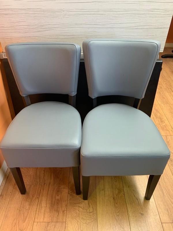 Restaurant chair size comparison