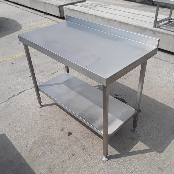 Steel table with shelf