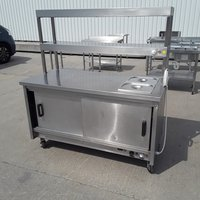 Hot cupboard carvery counter