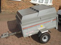 Erde 121 tipping trailer with hard cover