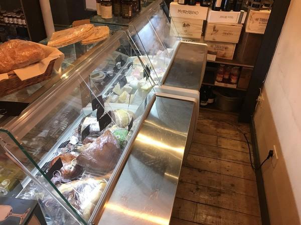 Secondhand serve over fridge