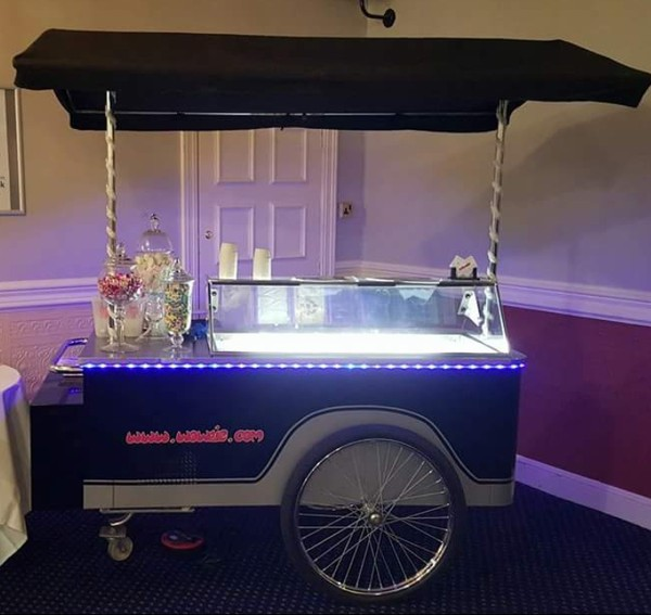 Gelato ice cream cart for sale