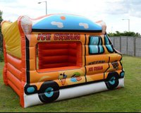 Inflatable ice cream van