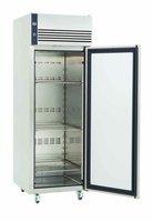 Upright stainless steel freezer