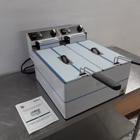 New RM Gastro FE88 Double 2 x 8L Table Top Electric Fish Fryer