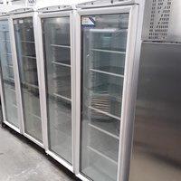 Used Mondial ECA3576154 White Upright Single Door Glass Display Freezer