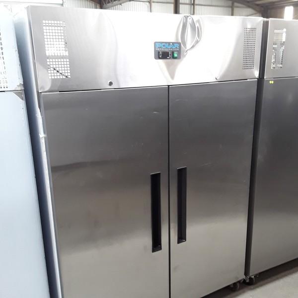 Used Polar G594 Stainless Steel Double 2 Door Fridge Chiller (7071)