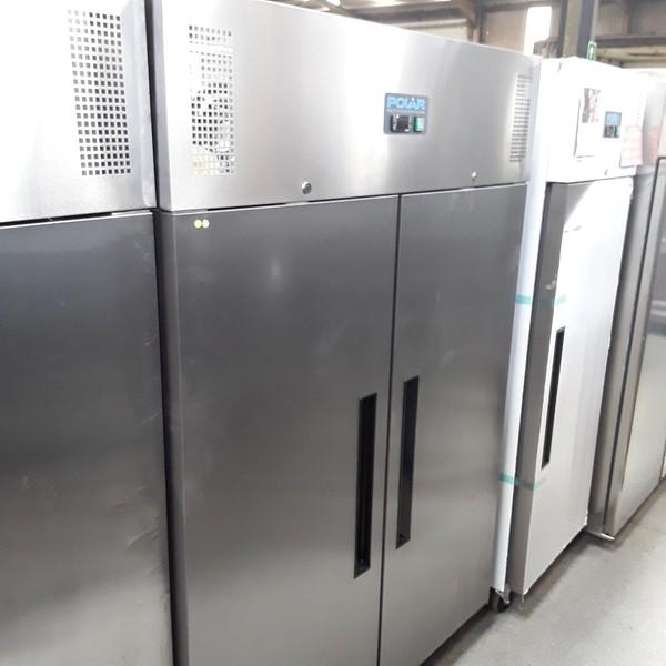 New B Grade Polar G594 Stainless Steel Double 2 Door Fridge Chiller(W7070)