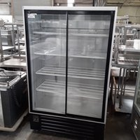 Used  USGC120 Double 2 Door Glass Display Drinks  Fridge (7068)