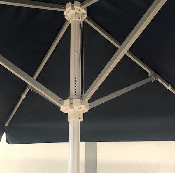 Schneider 2.10m Square Ex Demo Blue Commercial Parasol