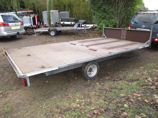 Galvanised 14 X 7-6 Flatbed Trailer (1500Kg Braked) With Headboard
