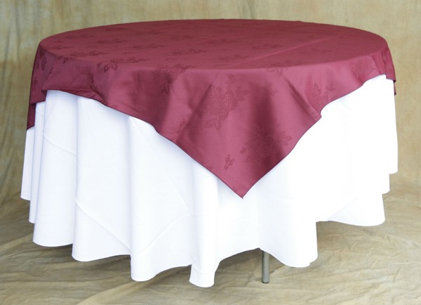 Laundered Burgundy Banqueting Linen