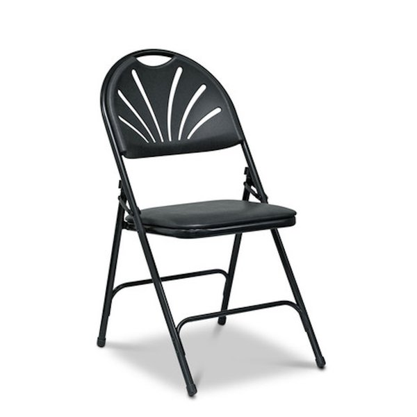 Folding Padded Chairs with Faux Leather Seat Pad