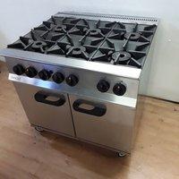 Used Lincat OG8002/N Stainless Steel Heavy Duty 6 Burner Range Cooker Oven (7104)