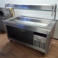 Used Victor Carib7 Stainless Steel Chiller Display Salad Well Fridge (7105)