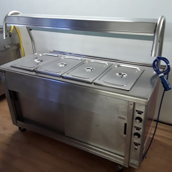 Used Victor  Stainless Steel 4 Gastro Carvery Heated Hot Cupboard Bain Marie	(7106)