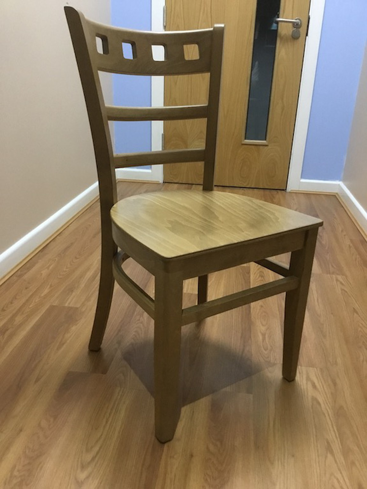 Secondhand chairs and tables cafe or bistro job