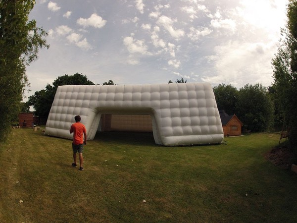 White inflatable marquee