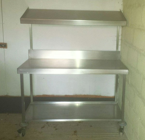 Quality Used Stainless Steel Table with Sloping Gantry