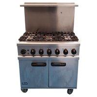 Used Lincat 6 Burner Gas Oven (Product Code: CF1234)