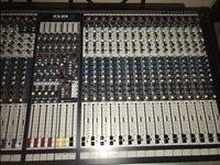 Used Soundcraft GB4-40 audio mixing desk