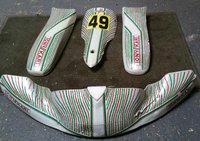 Kart OTK Tonykart Bodywork 2x Side Pods Nassau panel Nose Cone