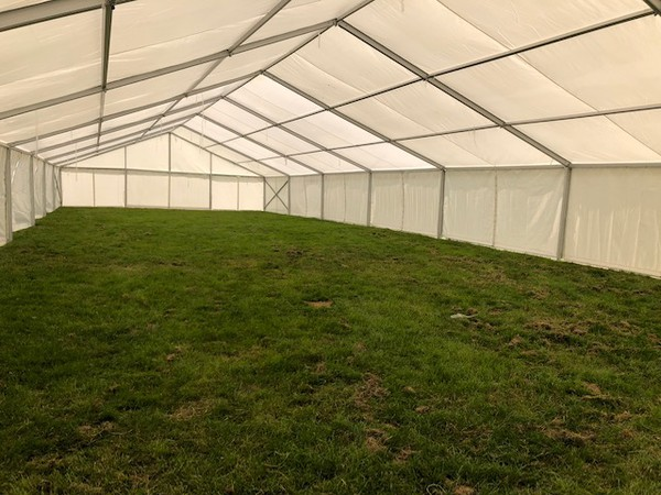 Secondhand clear span marquee